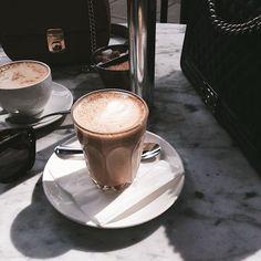 Imagem de coffee, blue, and theme