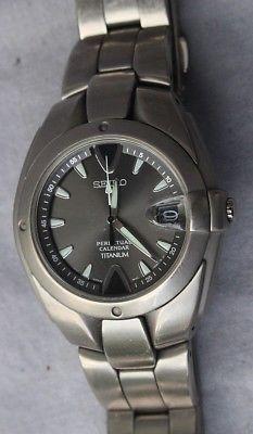 Seiko Titanium Perpetual Calendar 8f32 Men S Watch Seiko