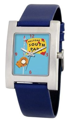 South Park Men's D1525S094 Kuban Collection Kenny Blue Leather Watch South Park. $16.94. Genuine leather strap with buckle. Precise Japanese-quartz movement. Durable mineral crystal. Water-resistant to 99 feet (30 M). White dial with South Park artwork