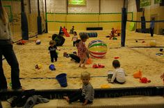 Indoor Sandbox in Seattle for tots!  We will conquer the rainy days :)