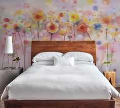 Large Mural Wallpapers and Feature Wall Wallpapers Art Antique Parchment Wall Mural - Watercolour Mermaid Scales Wall Mural Wallpaper Paste, Wall Wallpaper, Large Wall Murals, Warm Colour Palette, Statement Wall, New Homes, Interior Design, Room, Furniture