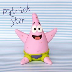 Crumb Avenue - Easy to follow cake topper tutorials | Tutorials | Patrick Star Cake Topper Tutorial, Fondant Tutorial, Cake Toppers, Patrick Star, Spongebob Patrick, Cricut Craft Room, Craft Rooms, Cute Avocado, Fondant Animals