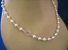 Wedding Jewelry Mandy Bridal Pearl and Crystal Oval by AnnsCrafts, $24.00