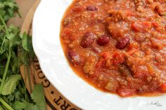 """This is Brad's favorite chili. He will eat it for a week straight and swoon over the last bite, just as much as the first. I finally wrote down the recipe while I was making it last week because every time someone asks me for it, I usually respond with, """"Well, I used ground beef,...Read More »"""