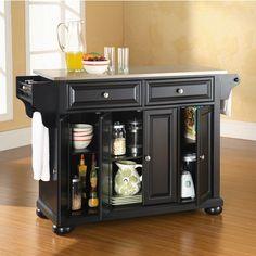 kitchensource.com:  Crosley Furniture Alexandria Stainless Steel Top Kitchen Cart. #kitchensource #pinterest #followerfind