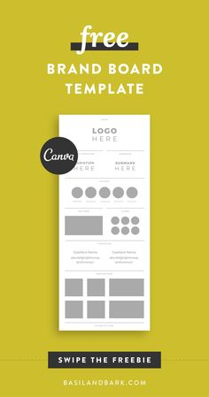 Is your brand looking like a hot mess? Did you know that showing up consistently online will foster trust with your audience and lead to more engagement and sales in your biz? Swipe my FREE brand board template for Canva to help you establish the visual elements of your brand and start showing up more consistently online. #freebie #blogger #branding #template #canva