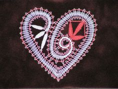 Image Bobbin Lace Patterns, Lace Heart, Lace Jewelry, Happy Valentines Day, Lace Detail, Butterfly, Sewing, Image, Inspiration