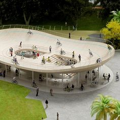 bicycle club by NL Architects in Sanya, China.
