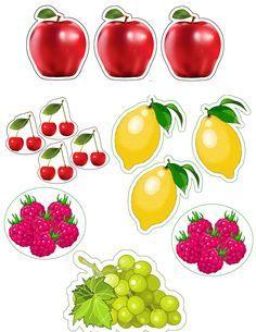 Fruits pommes, citrons , cerises , framboises et raisins