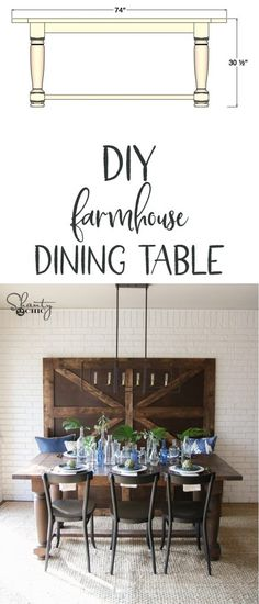 LOVE this Farmhouse Dining Table that was built on HGTV by Shanty2Chic! Free plans and tutorial!