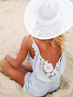 Summer lovin' and having a blast! #Summer #Lace #Playsuit