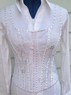 White Lace Corset Vest – The Bling Boutique