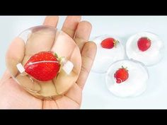 DIY Strawberry Raindrop Cake ! Water Cake Recipe (Ooho) MonsterKids - YouTube