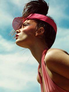 Cheekbones + perfect light angle.  Crystal Renn in Harper's Bazaar Spain, August 2013.