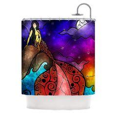 Mandie Manzano Fairy Tale Mermaid Shower Curtain