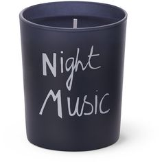 Bella Freud Night Music Candle (823.620 IDR) ❤ liked on Polyvore featuring home, home decor, candles & candleholders, candles, blue, filler, blue home decor, heart shaped candles, embossed candles and music themed home decor