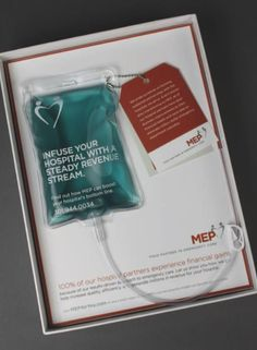 Clear, tactile direct mail showcasing american company MEP. Not only would you stop and read this, you'd keep it /give it to the kids to play with - your brand message hangs around forever.