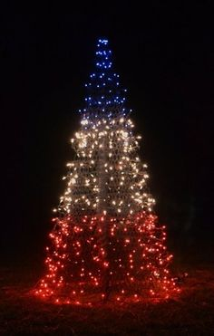 4 patriotic red white blue crab pot christmas tree prelit nc coast seashore