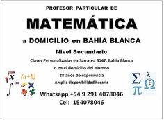 Clases particulares de Matemática a domicilio en Bahía Blanca  #Clases, #Particulares, #Matematica, #Domicilio, #Bahia, #Blanca