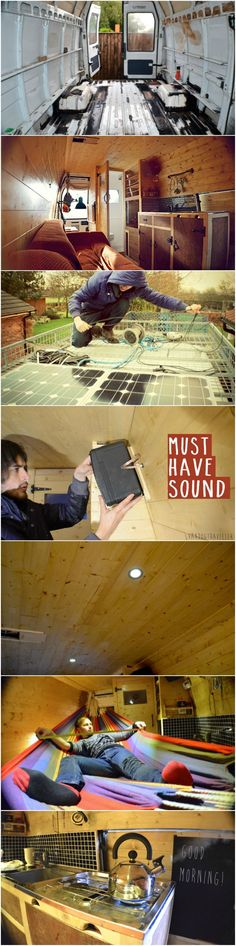DIY Camper: From Rusty Van To Cosy Home           -> See more at: http://www.goodshomedesign.com/diy-camper-from-rusty-van-to-cosy-home/
