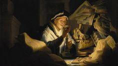 Rembrandt (1606-1669) Parabole de l'homme riche - 1627 - Huile sur bois - 31,9 x…