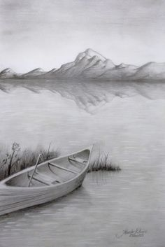 how to draw a river with pencil