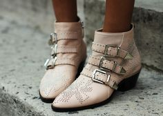 Chloé boots in pale pink