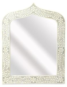 Bone Inlay Wall Mirror, White - Wall Mirrors - Mirrors - Art & Mirrors | One Kings Lane