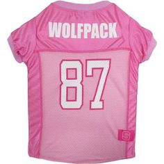 Pets First College NC State Wolfpack Pet Pink Jersey, 4 Sizes Available