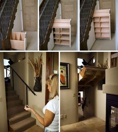 35 secret passageways in houses by creative home engineering. I want a secret passageway in my house! Hidden Spaces, Hidden Rooms, Hidden Panic Rooms, Small Spaces, Secret Room Doors, Cool Secret Rooms, Secret Rooms In Houses, Hidden Passageways, Home Engineering