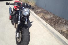 """Some more photos of the Honda. The rear end will get a massive uplift in a few months time, I'm aiming to go for a full cafe racer """"hump rear"""". Rear Ended, Street Fighter, More Photos, Honda, Motorcycle, Garage, Cars Motorcycles, Carport Garage, Motorcycles"""