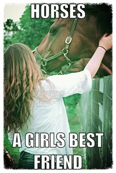 Horses true dat! a boy isn't the only one who rides horses horses are are a girls BEST FRIEND