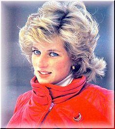 January 24, 1985: Princess Diana on skiing holiday in Malbun, Liechenstein. Tileicon