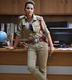 #BulletRani dubbing over Kannada Movies, Military Women, Hair Updo, Updos, Khaki Pants, Long Hair Styles, Fashion, Up Dos, Moda