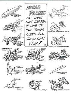 ideal planes if every engineering group got their own way
