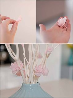 beach house in the city: tissue paper cherry blossoms diy