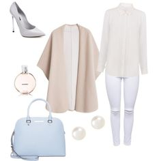 Pastel Blue Staple by brogan-ford on Polyvore featuring polyvore, fashion, style, Walter Baker, MANGO, Lipsy, Casadei, MICHAEL Michael Kors, Accessorize and Chanel