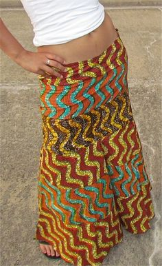 African Mix Print Long Skirt by ifenkili on Etsy ~Latest African Fashion, African Prints, African fashion styles, African clothing, Nigerian style, Ghanaian fashion, African women dresses, African Bags, African shoes, Nigerian fashion, Ankara, Kitenge, Aso okè, Kenté, brocade. ~DK
