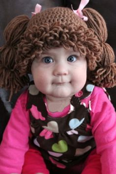 CCC103 Brown Cabbage Patch Knit Hat