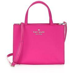 Kate Spade New York Watson Lane Sam Bag ($198) ❤ liked on Polyvore featuring bags, handbags, hand bags, pink tote purse, pink tote handbags, kate spade tote and nylon tote handbag
