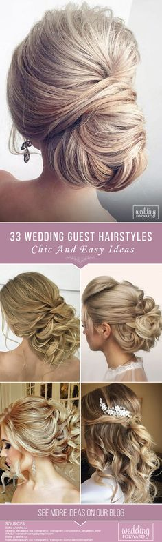 33 Chic And Easy Wedding Guest Hairstyles ❤ Wedding guest hairstyles should be fancy, rather effortless than very difficult. In our gallery we have something any female guest would want for sure! See more http://www.weddingforward.com/wedding-guest-hairstyles/ #wedding #hairstyles #weddingguesthairstyles