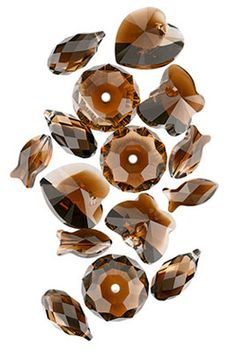 NEW Color - Topaz Blend. Available in a variety of shapes and pendants