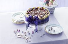 Easter Marbled Cheesecake