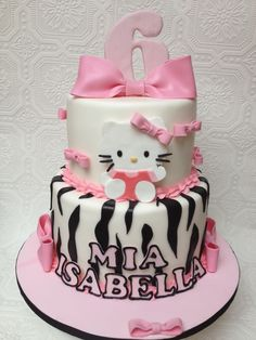 Hello Kitty Cake my Grand daughters would love this cake!!