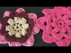 Crochet Geek - Irish Rose Crochet Flower