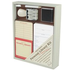 personal library kit. so retro & cute!