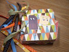 Camping Premade Mini Scrapbook Album Camping Mini by HampshireRose, $30.00