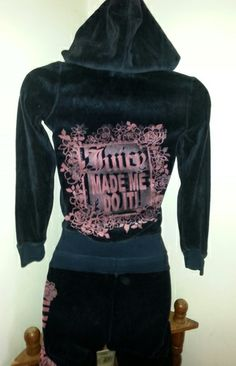 Juicy Couture Girls Black Velour Tracksuit - Size 10 . Starting at $40 on Tophatter.com!