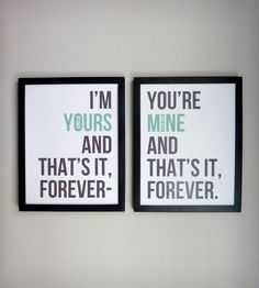 Personalized Ballad of Love & Hate Print - Set of 2 | Art Prints | The Oyster's Pearl | Scoutmob Shoppe | Product Detail