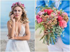 Romantic Athens Riviera Beach Wedding Inspiration